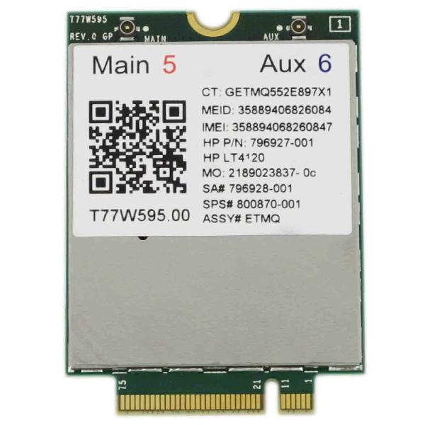 Giá Lt4120 X5 LTE T77W595 796928-001 4G WWAN M.2 150Mbps LTE Modem for HP Elite X2 840 850 G3 640 650 645 G2 green