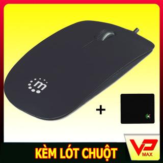 ( Tă ng Lo t chuô t ) Chuột quang có dây Manhattan sang trọng dùng cho laptop máy tính - vpmax thumbnail