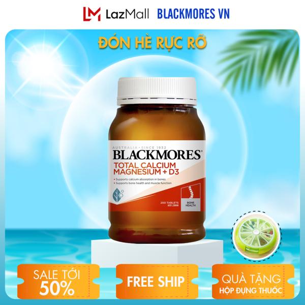 Blackmores Total Calcium & Magnesium + D3 200v - Viên uống bổ sung Canxi hỗ trợ xương khớp Blackmore Úc