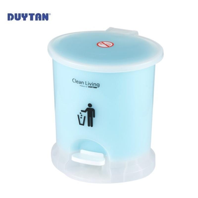 Thùng rác oval nhí Duy Tân 2.6 Lít  No.217 (nhiều màu), chất liệu nhựa PP an toàn, bền bỉ, dễ dàng vệ sinh, chùi rửa nhanh chóng, thiết kế tiện lợi, dễ sử dụng