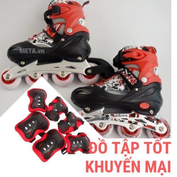 Phân phối Combo giày trượt patin trẻ em cao cấp Longfeng 906 và bộ bảo vệ chân, tay, gối HOÀN HẢO