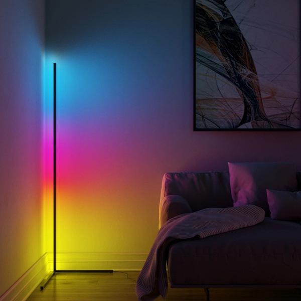 Bảng giá Đèn Led đứng góc tường RGB, khiển qua App, cảm ứng nhạc, trang trí phòng khách, phòng ngủ, phòng game