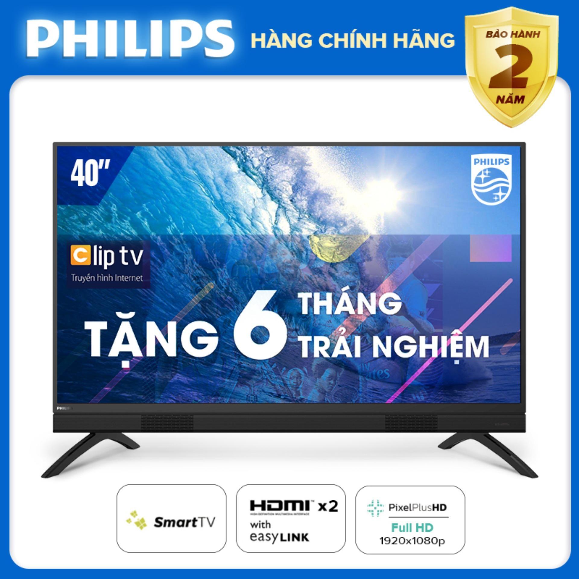 Bảng giá SMART TIVI 40 INCH FULL HD KẾT NỐI INTERNET WIFI - hàng Thái Lan - Free 6 tháng xem Clip TV - Bảo hành 2 năm tại nhà - 40PFT5883/74 Tivi Philips