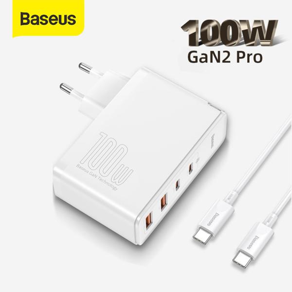 [Tặng cáp sạc 100W miễn phí] Bộ Sạc Nhanh Baseus 100W GaN2 Pro PD QC 4.0 3.0 USB Type C Dành Cho iPhone 12 Pro Max Macbook Điện thoại Máy tính bảng Laptop Máy chơi game và các thiết bị điện tử khác