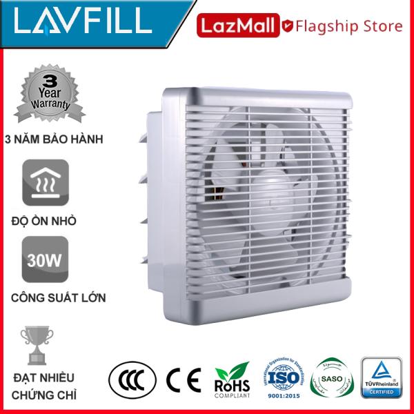Quạt thông gió 2 chiều (HAI CHIỀU) 300x300mm, âm tường không ồn hãng LAVFILL LFW-20DK