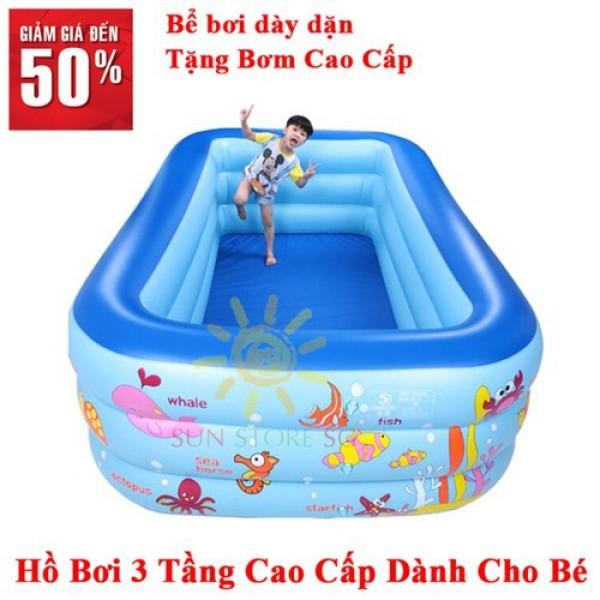 [Xả kho Tặng kèo Bơm hơi + Miếng vá + Keo] Bể Bơi Phao Intex Cho Trẻ 3 Tầng Kích Thước 1m5 x 1m x 0.55cm. LOẠI 2 đáy cực DÀY. Bảo hành 12 tháng. 1 Đổi 1