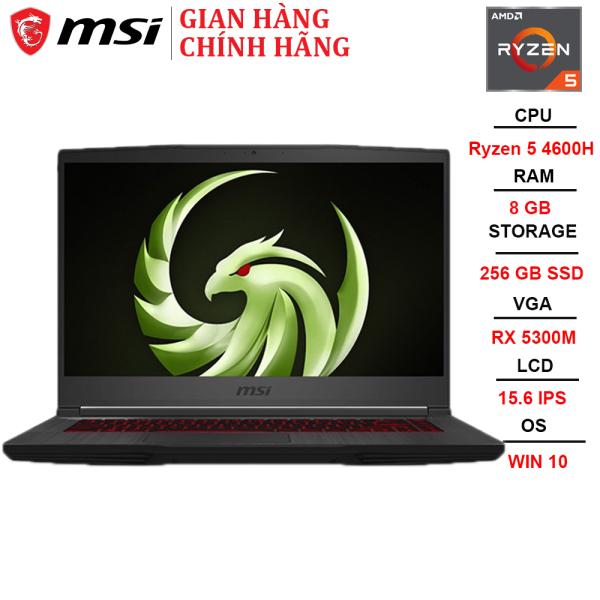 Bảng giá Laptop MSI Bravo 15 A4DCR-052VN R5-4600H | 8GB | 256GB | VGA RX 5300M 3GB | 15.6 FHD | Win 10 Phong Vũ