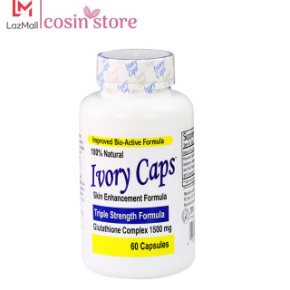 Viên uống Ivory Caps Glutathione Skin Enhancement Formula 60 viên hỗ trợ trắng da giảm nám, tàn nhang Triple Strength Formula Glutathione Complex 1500 mg thumbnail