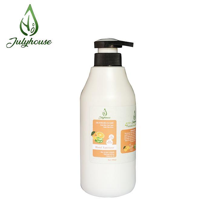 Gel rửa tay khô tinh dầu Cam và Nha Đam 500ml JULYHOUSE nhập khẩu