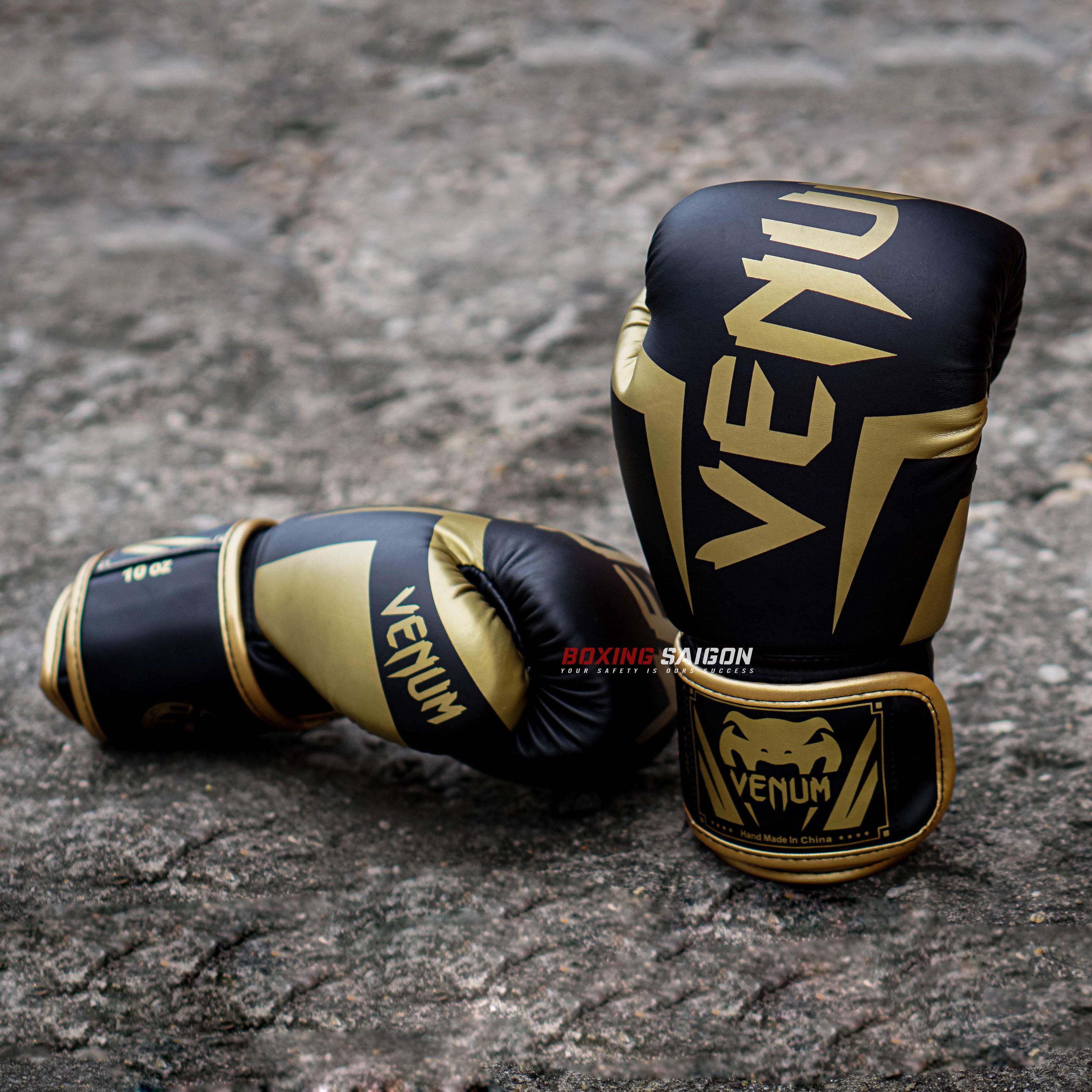Găng Tay Boxing Venum Elite - Black Gold Giá Tốt Nhất Thị Trường