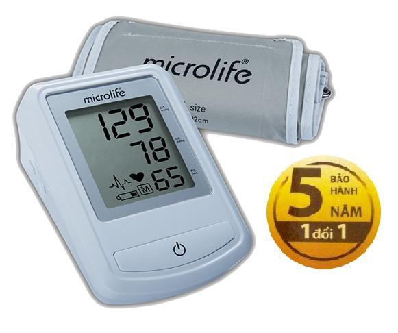 Máy đo huyết áp bắp tay Microlife  3NZ1-1P (Trắng) nhập khẩu