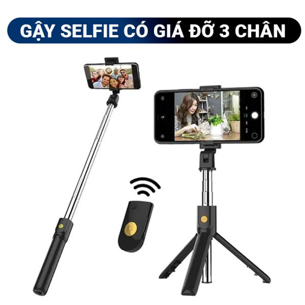 Gậy selfie tự sướng K07 có 3 chân giúp cố định khung ảnh, remote bluetooth chụp hình từ xa rất tiện lợi, kích thước nhỏ gọn dễ dàng mang theo, điều chỉnh độ cao