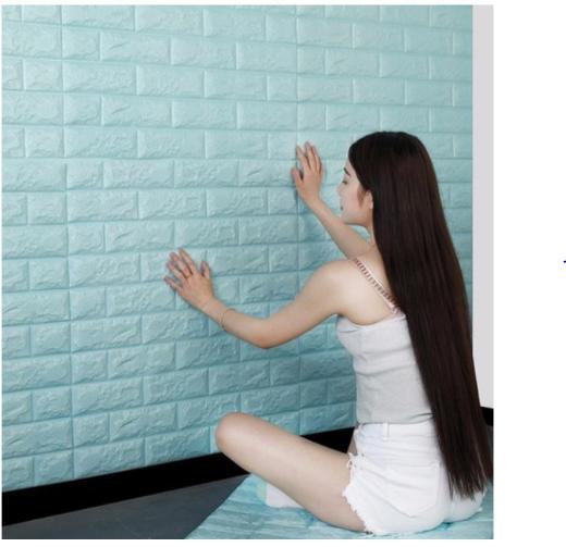 5 miếng xốp dán tường 3D giả gạch phong cách hàn quốc chịu lực chống ẩm mốc MARKETVIETNAM 70x77cm siêu đẹp