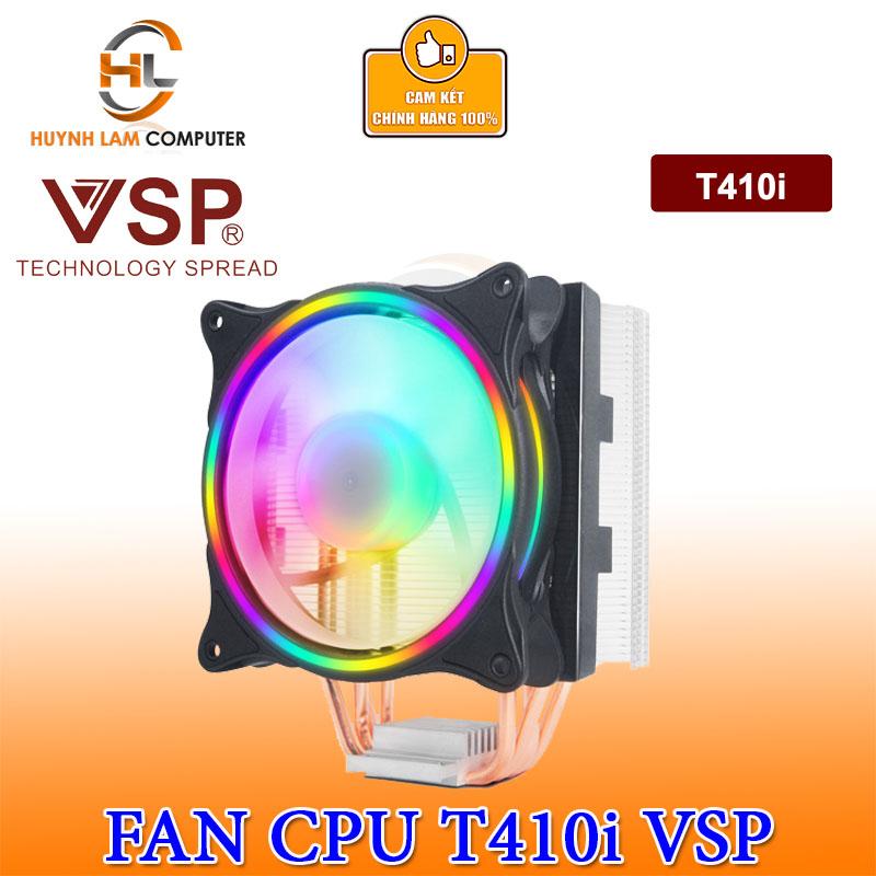 Giá Tản nhiệt CPU T410i Fan VSP 12cm Led RGB Dùng Cho Tất Cả Socket VSP phân phối