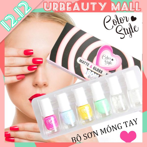 【Urbeauty Mall】 6pcs Nail polish lọ sơn móng tay không bóng, không bong tróc, lâu trôi, không phai màu giá rẻ
