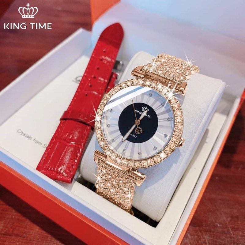 Nơi bán Đồng hồ nữ KING TIME FULL Kim Cương - Mặt To Size Lớn Nổi Bật