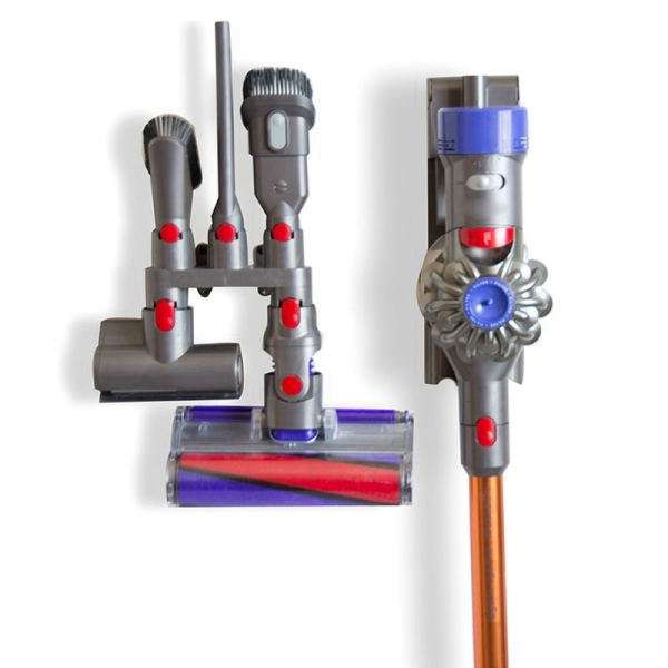Vacuum Cleaner Attachments Holder Storage Rack Set For Dyson V6 V7 V8 V10 Hanging Shelf Free Punching Storage Bracket