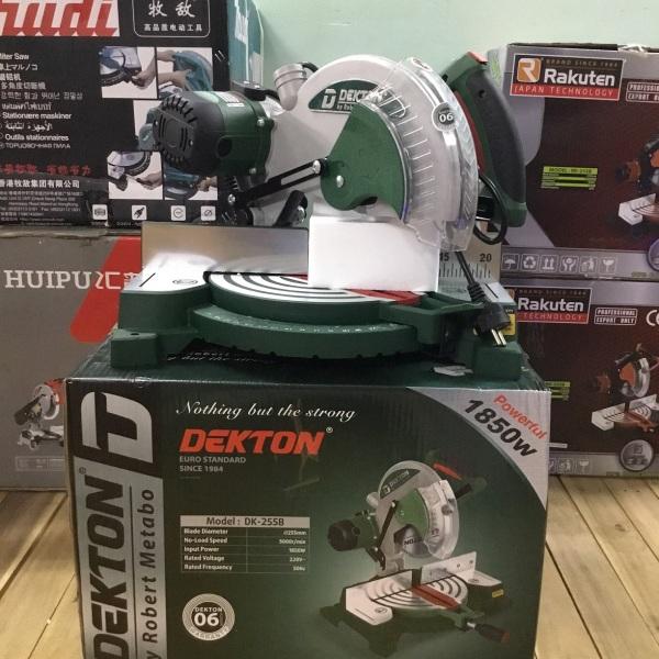 Máy cắt nhôm dây curoa Dekton DK-255 1850W - Tặng lưỡi cưa hợp kim (SL Có hạn)
