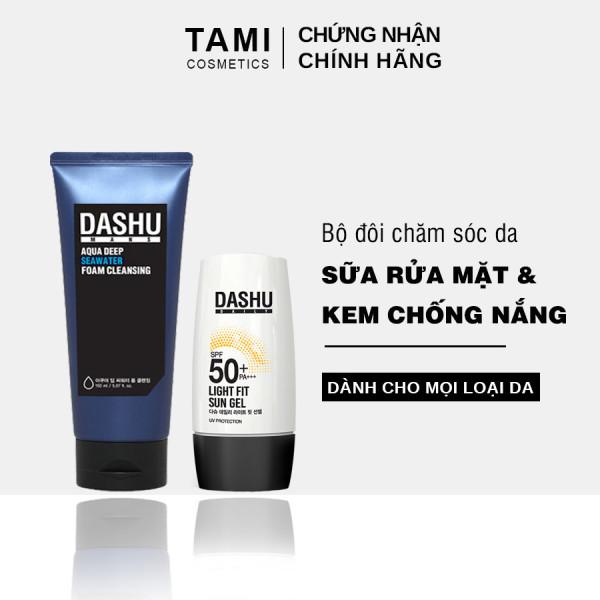 Bộ sản phẩm chăm sóc da DASHU ( Sữa rửa mặt và Kem chống nắng) dành cho nam TM - CSD01 nhập khẩu