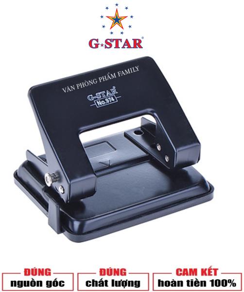 Mua Bấm Lỗ Trung G-Star 974 có lưỡi dao đục được làm bằng thép siêu bền, siêu bén, đục nhanh mà không làm xơ rách giấy