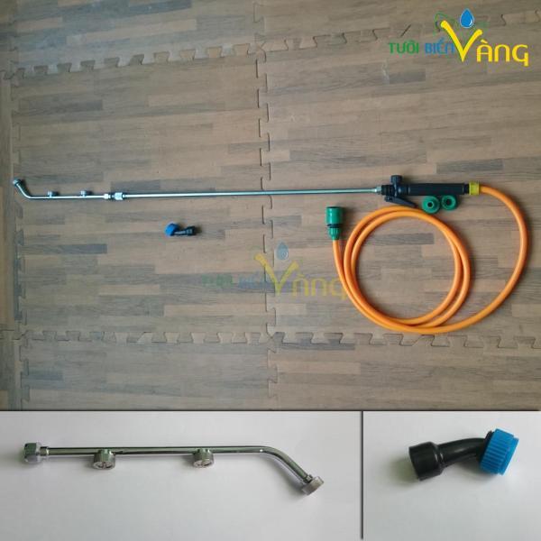 Cần phun tưới lan 1,6m kèm 5 hoặc 10 mét dây, tháo lắp nhanh với vòi nước máy hoặc máy bơm qua ren 21