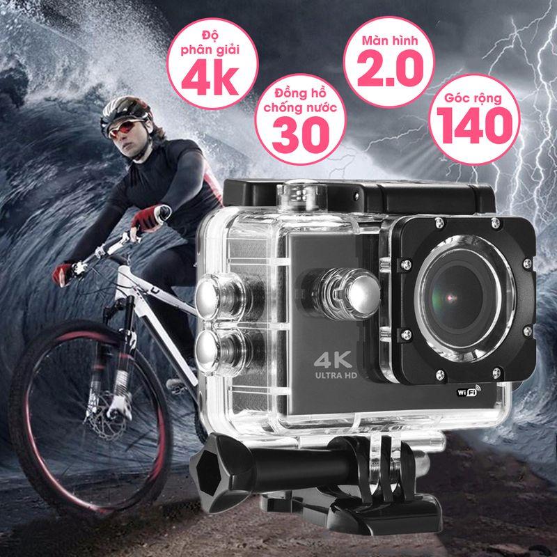 Camera Hành Trình Gắn Trên Xe Máy, Xe Đạp, Camera Hành Trình Gopro 4K Ultra HD, Camera hành trình dân phượt gắn mũ bảo hiểm, xe máy, xe hơi