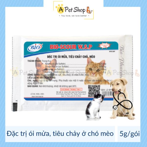 Chó mèo tiêu chảy ói mửa BIO SCOUR W.S.P 5g kiểm soát bệnh đường ruột cho chó mèo - a pet shop