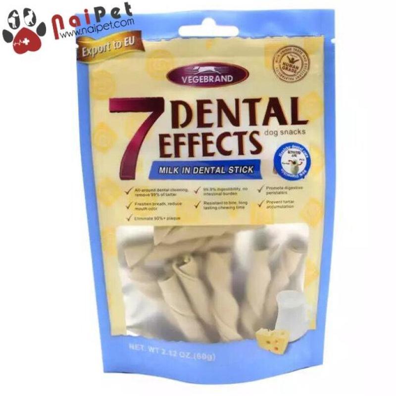 Đồ Ăn Vặt Xương Gặm Sạch Răng Thơm Miệng Vị Sữa Cá Hồi Thịt Bò Đậu Phộng Denteal EffEcts 60g