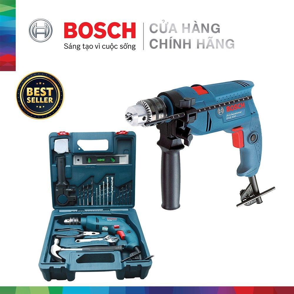 Bộ máy khoan động lực Bosch GSB 550 MP SET 19 chi tiết