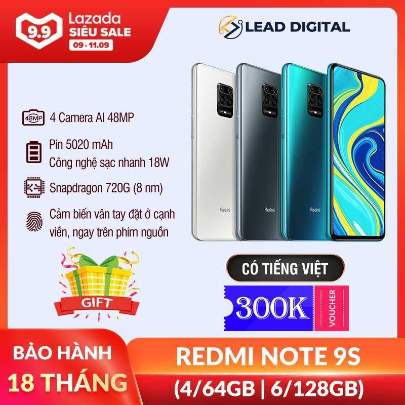 4,390K - 4,990K [BẢN QUỐC TẾ] Điện thoại Xiaomi Redmi Note 9S 4GB/64G | 6GB/128GB - FULL TIẾNG VIỆT, Snapdragon 8 nhân 720G, Màn hình 6.67 inches, Pin siêu khủng 5020mAh sạc nhanh 18W, Camera 48MP/8MP/5MP/2MP góc siêu rộng - BH 18 tháng