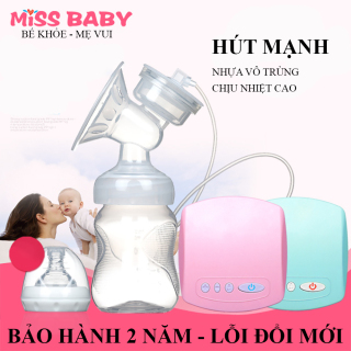 Máy hút sữa điện đơn Miss Baby có chế độ Massage kích sữa điều chỉnh 9 mức độ- Thiết kế thông minh tiện dụng- Tháo lắp dễ dàng- chất liệu nhựa PP an toàn tuyệt đối với trẻ - BẢO HÀNH 2 NĂM ĐỔI MỚI 1-1 TRONG 7 NGÀY NẾU CÓ LỖI thumbnail