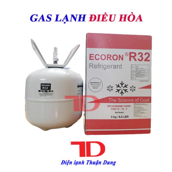 Gas lạnh điều hòa R32 3KG ECORON, môi chất lạnh R32