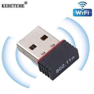 KEBETEME Bộ Chuyển Đổi Không Dây WiFi USB 2.0 Dongle Thẻ Mạng Lan WiFi 150Mbps Bộ Chuyển Đổi WiFi Ethernet 802.11n/B/G 150Mbps Dành Cho Máy Tính PC Laptop Máy Tính Để Bàn