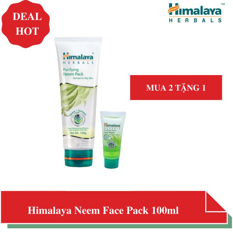 Mặt nạ đất sét lá neem giúp kiềm dầu, ngừa mụn, dịu da - Himalaya Herbals Neem Face Pack 100 ml giá rẻ