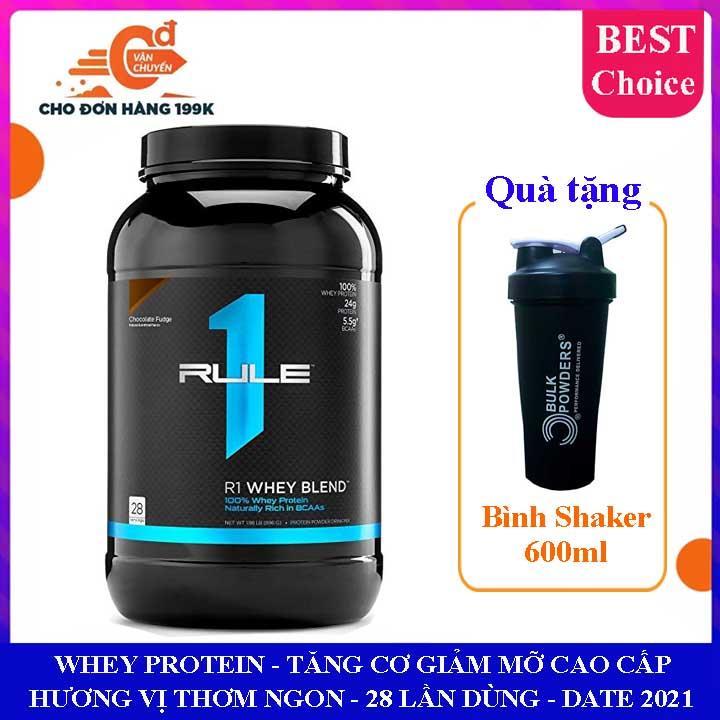 [TẶNG BÌNH] Sữa tăng cơ Rule 1 Whey Blend của Rule One Proteins hộp 28 lần dùng hỗ trợ tăng cơ giảm cân, giảm mỡ bụng, tăng sức bền sức mạnh vượt trội cho người tập GYM và chơi thể thao - whey protein - thuc pham chuc nang cao cấp