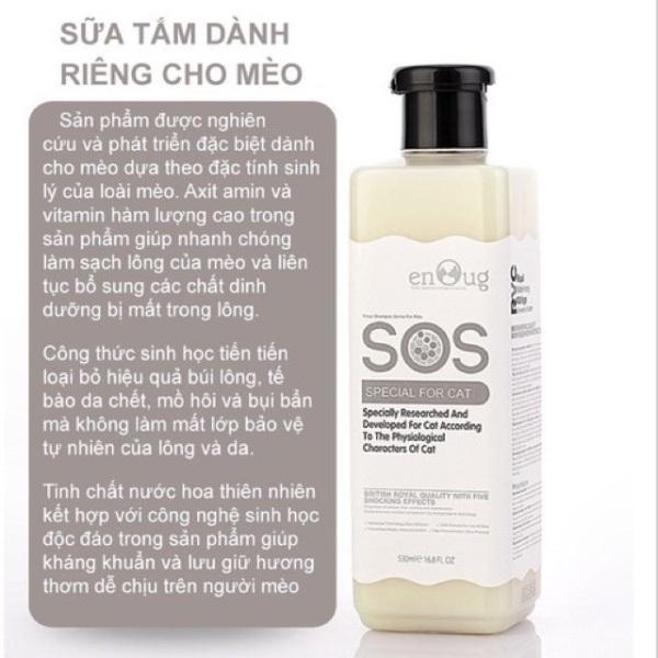 Sữa tắm SOS cho mèo 530ml - Mẫu dưỡng lông
