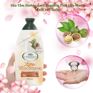Sữa Tắm Dưỡng Ẩm L Angelica Tinh Dầu Macca Ý (C 500ml) thumbnail
