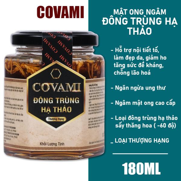 [GIÁ DÙNG THỬ] Mật ong ngâm đông trùng hạ thảo thương hiệu COVAMI 180ML