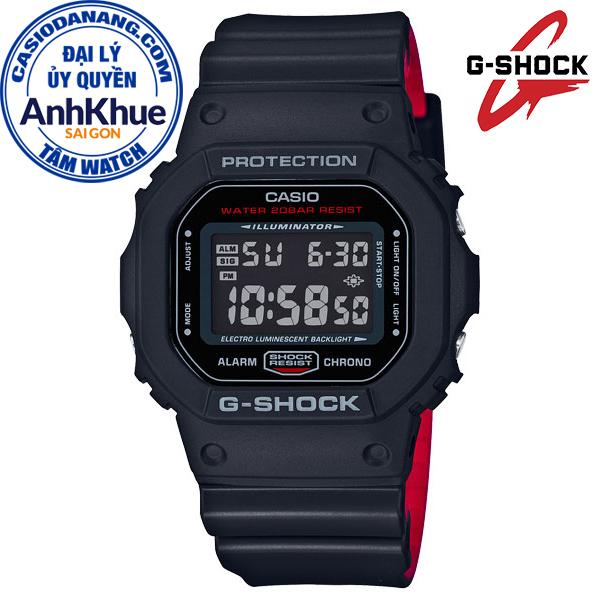 Đồng hồ nam dây nhựa Casio G-Shock chính hãng Anh Khuê DW-5600HR-1DR