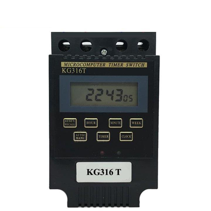 công tắc giờ bật tắt thiết bị điện công suất lớn 25A 16 chương trình KG316T Smart Power - Nhập khẩu (Đen), timer hen gio, o cam hen gio, o cam dien da nang, cong tac dien thong minh, role hen gio,