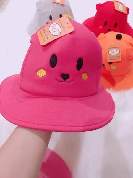 [HÀNG XẢ KHO] nón vành gấu bé gái,chất vải cotton dày dặn,dẹp(2-5tuoi)