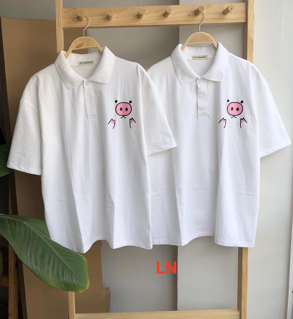 Áo phông có cổ hình lợn hồng 75