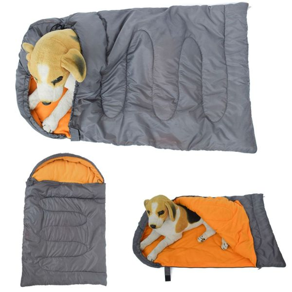 YE33040 Puppy Kitten Warm Cozy with Storage Bag Kennel Autumn Winter Supplies Pet Nest Cave Dog Bed Pet Sleeping Bag Cat Cushion Dog Camping Bed