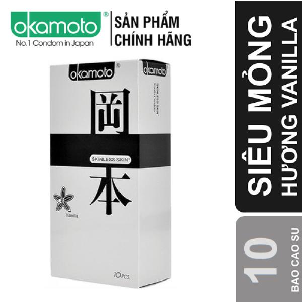 [HƯƠNG VANI]Bao Cao Su OKAMOTO SKINLESS VANILLA (10 bao) Okamoto siêu mỏng, sang sóng mềm mại lôi cuốn TH STORE 01