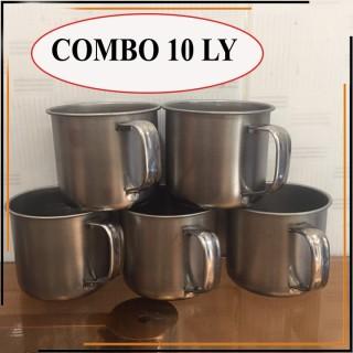 [COMBO 10 LY] Ly inox có quai uống nước. Ca làm đá có quai bằng inox thumbnail