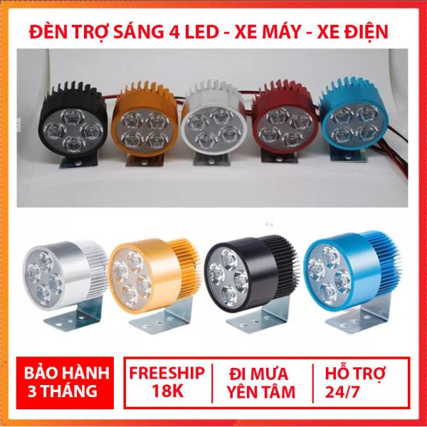 Đèn trợ sáng 4 LED dành cho xe mô tô, xe điện -So So Nice - X001