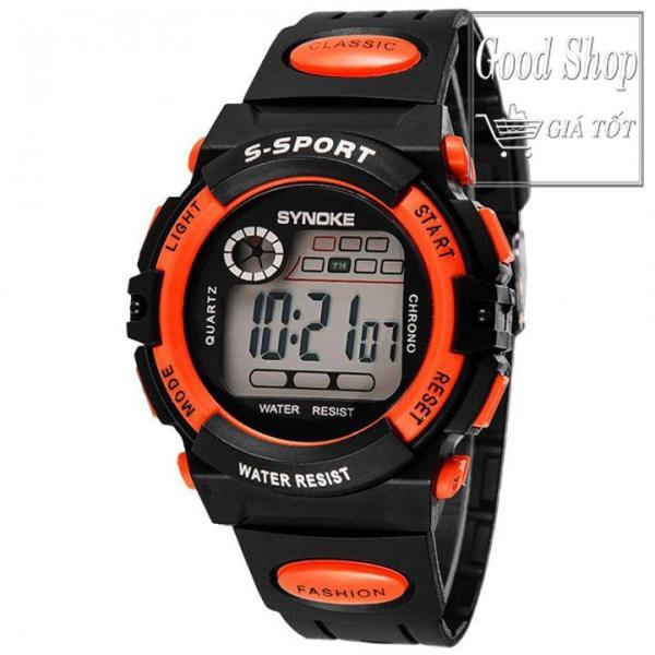 Đồng hồ bé trai dây cao su  Synoke  99269 (Cam)