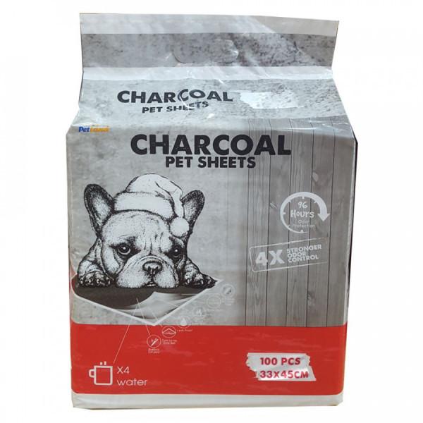 Tã lót vệ sinh than hoạt tính khử mùi Charcoal cho chó mèo (100 miếng)