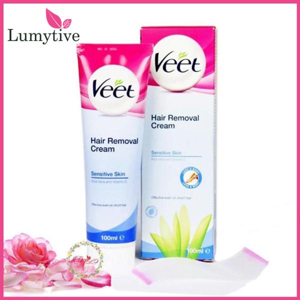 [YÊU THÍCH] Kem Tẩy Lông an toàn lâu dài VEET Silk & Fresh Sensitive 100g , kem triệt lông cho da nhạy cảm đơn giản, hiệu quả nhanh chóng, không gây đau đớn - Lumytive