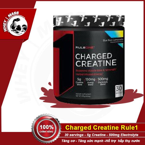[HCM]Tăng sức mạnh  tăng cơ bắp  hổ trợ khả năng giữ nước trong cơ RULE1 CHARGED CREATINE (240gram) 30servings Từ Mỹ